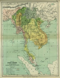 1886 IndoChina map