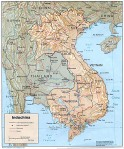 Map of Indochina including Vietnam, Cambodia, Laos and Thailand